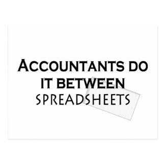 Accountants do it! postcard