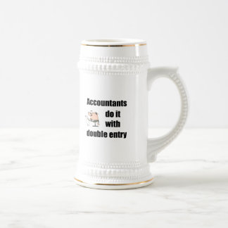 accountants do it with double entry 18 oz beer stein