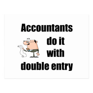 accountants do it with double entry postcard