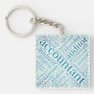 """Accountants' Word Cloud"" Keychain"