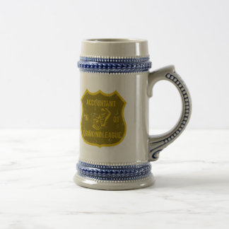 Accounting Drinking League Beer Stein