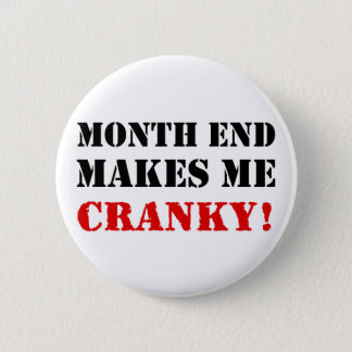 Accounting & Finance Month End Approval Stamp 2 Inch Round Button