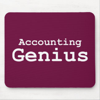Accounting Genius Gifts Mouse Pad
