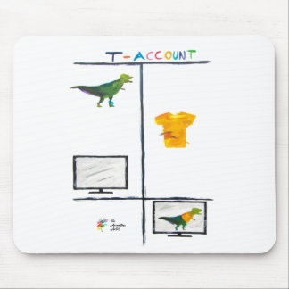 Accounting Humor Mouse Pad - T-Rex T-Account