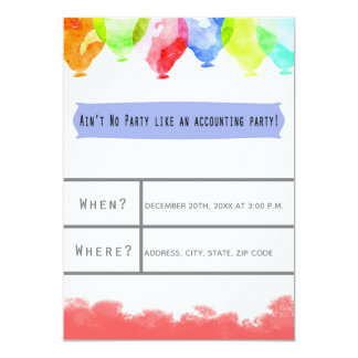 Accounting Office Party Invitation Card