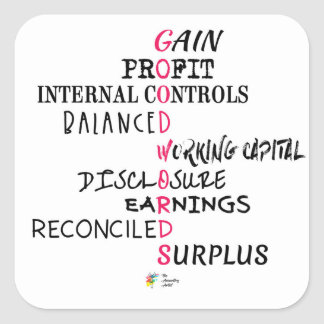 Accounting Sticker - Good Accounting Words