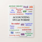 Accounting Swear Words Accountant Joke Jigsaw Puzzle