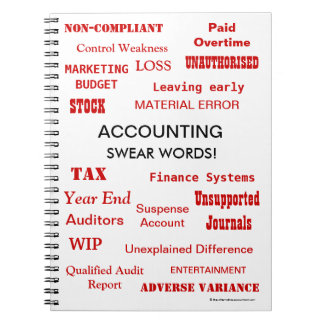 Accounting Swear Words Accountant Joke Notebooks