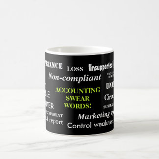 Accounting Swear Words!! Classic White Coffee Mug