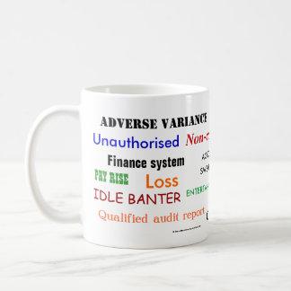 Accounting Swear Words!! Cruel Accountant Joke Coffee Mug