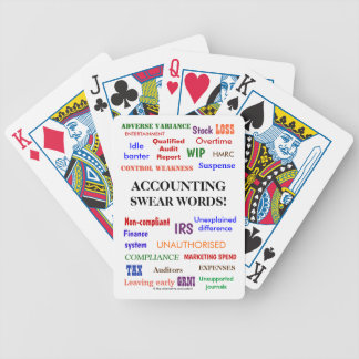 Accounting Swear Words Funny Accountant Joke Bicycle Playing Cards