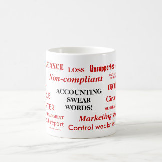 Accounting Swear Words!! Rude Accountant Joke Mug
