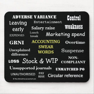 ACCOUNTING SWEAR WORDS Rude Accounting Terms Mousepads
