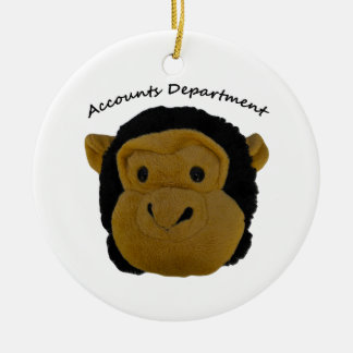 Accounts Department. Funny Gifts for  work persons Ceramic Ornament