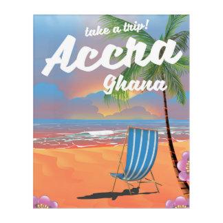 Accra Ghana beach travel poster Acrylic Wall Art