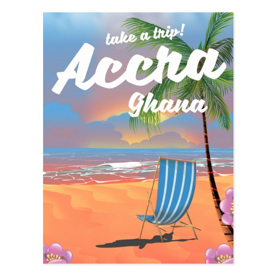 Accra Ghana beach travel poster Postcard
