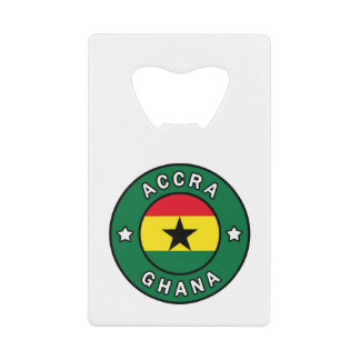Accra Ghana Credit Card Bottle Opener