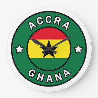 Accra Ghana Large Clock