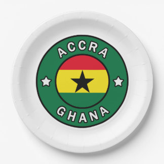 Accra Ghana Paper Plate