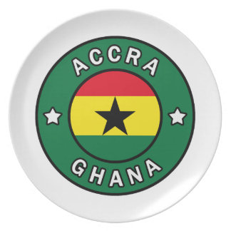 Accra Ghana Plate