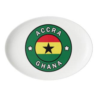 Accra Ghana Porcelain Serving Platter