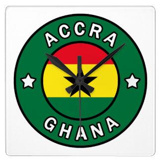 Accra Ghana Square Wall Clock