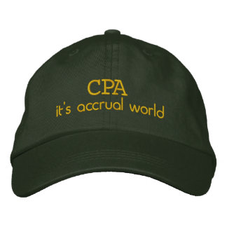 Accrual 1 embroidered baseball cap