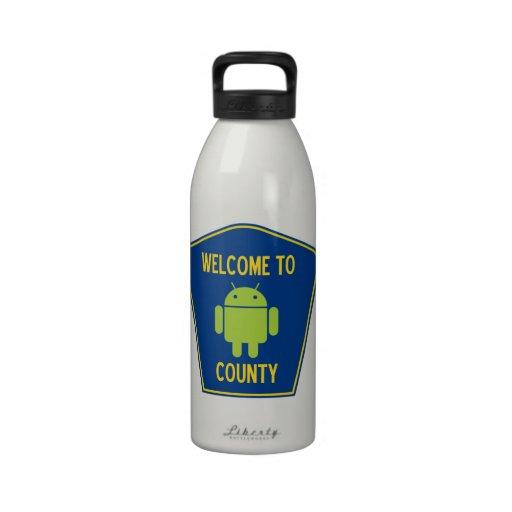 Accueil au signe androïde du comté (de Bugdroid) Bouteilles D'eau
