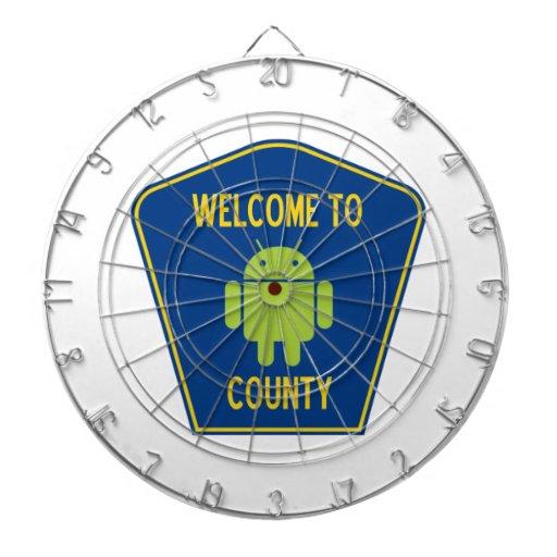Accueil au signe androïde du comté (de Bugdroid) Jeux De Fléchettes