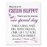 Accueil au signe violet de mariage de buffet de su photographies