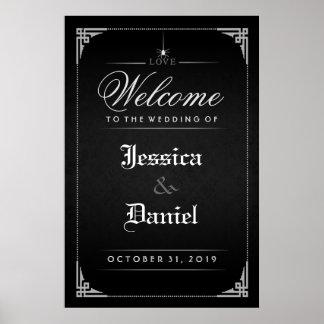Accueil gothique noir d'araignée de Halloween à Poster