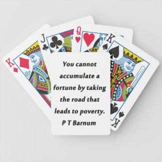 Accumulate A Fortune - P T Barnum Bicycle Playing Cards