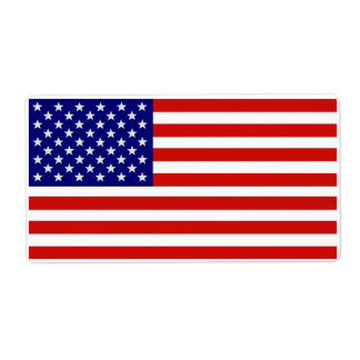 Accurate American Flag Label Shipping Label