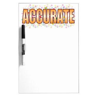 Accurate Bubble Tag Dry Erase Board