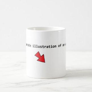 Accurate illustration of an atom. coffee mug