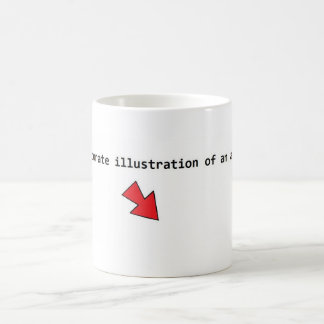Accurate illustration of an atom. basic white mug