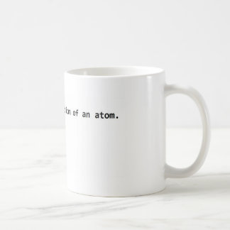 Accurate illustration of an atom. mug