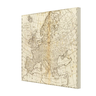 Accurate Map of Europe Canvas Print