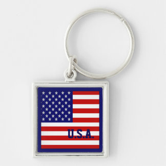 Accurate USA American Flag Keychain