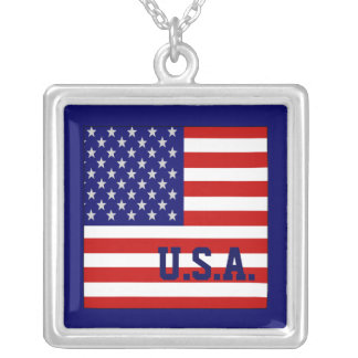 Accurate USA American Flag Necklace