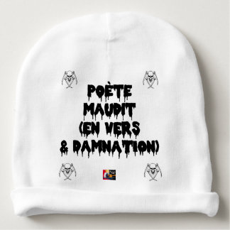 Accursed poet (IN WORMS AND DAMNATION) - Word Baby Beanie