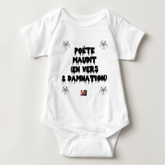 Accursed poet (IN WORMS AND DAMNATION) - Word Baby Bodysuit