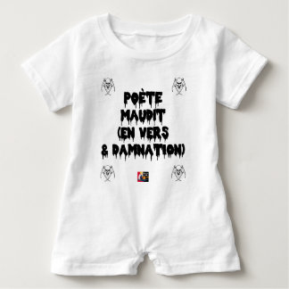 Accursed poet (IN WORMS AND DAMNATION) - Word Baby Romper