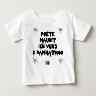 Accursed poet (IN WORMS AND DAMNATION) - Word Baby T-Shirt