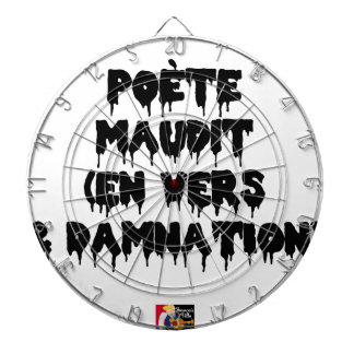 Accursed poet (IN WORMS AND DAMNATION) - Word Dartboard