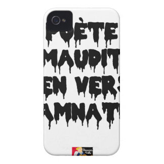 Accursed poet (IN WORMS AND DAMNATION) - Word iPhone 4 Case-Mate Case