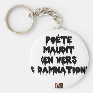 Accursed poet (IN WORMS AND DAMNATION) - Word Keychain
