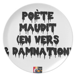 Accursed poet (IN WORMS AND DAMNATION) - Word Plate