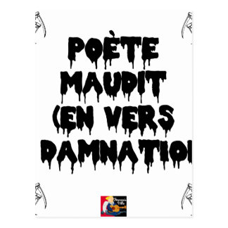 Accursed poet (IN WORMS AND DAMNATION) - Word Postcard