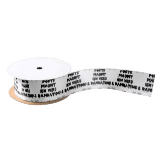 Accursed poet (IN WORMS AND DAMNATION) - Word Satin Ribbon